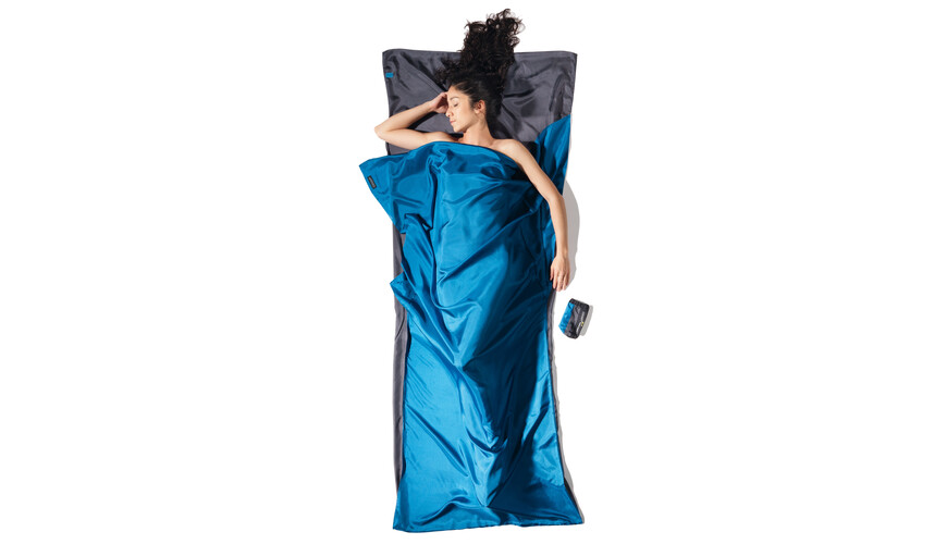 Cocoon TravelSheet - Sacos de dormir - Silk gris/azul